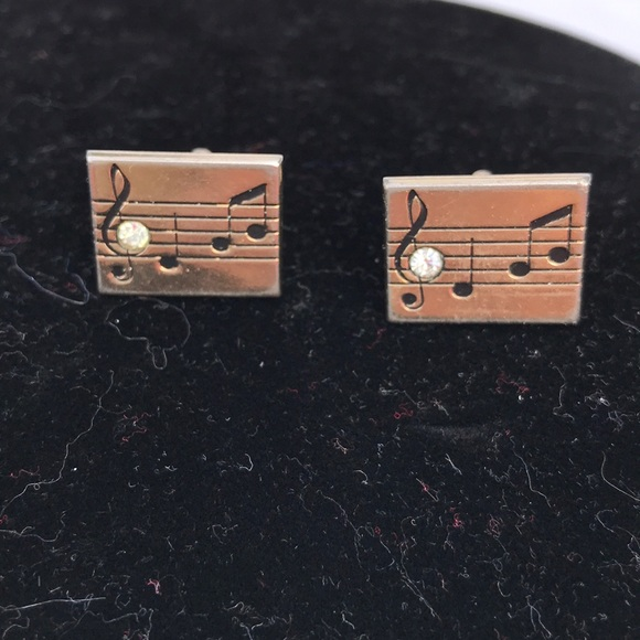 0eaa624a3f02 swank Accessories | Gold Tone Musical Note Cuff Links | Poshmark